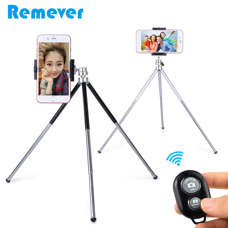 Portable Mini Tripod With Phone Holder Bluetooth Remote for iPhone Samsung Xiaomi Android Smartphone Tripod for Gopro Camera