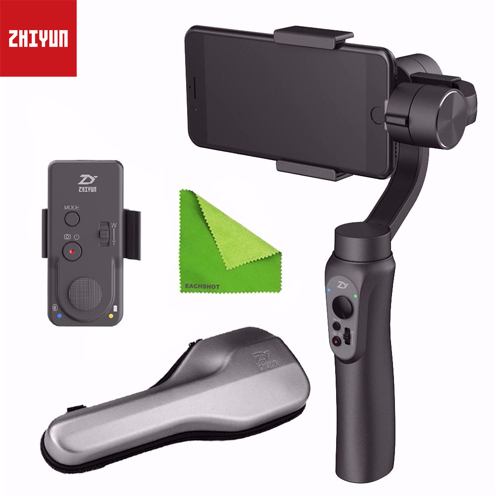 Zhiyun Smooth Q 3-Axis Smartphone Handheld Gimbal Stabilizer for IPhone 7 8 X Plus Samsung Galaxy S7 S6 S5 Mobile With Remote