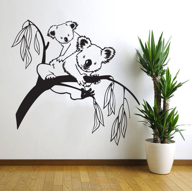 removable koala tree branches diy wall decals wall sticker aliexpress com buy removable large happy tree wall