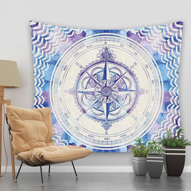 Gnorris Kompas Psychedelic Manta (Disambiguasi) Mandala Permadani Wall Hanging Rumah Dekorasi Rumah Dekorasi Aksesoris Ukuran 73*95 Cm