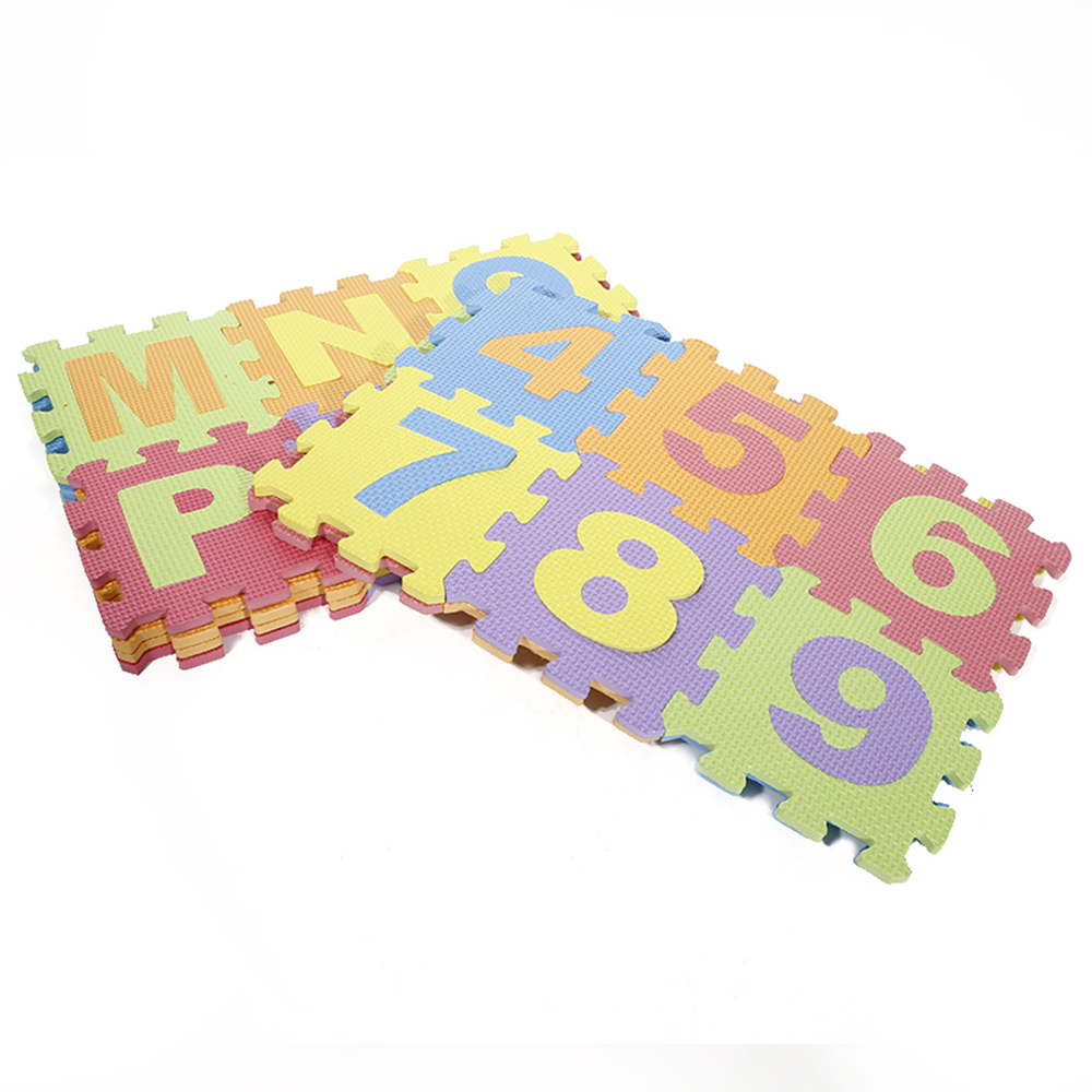36 PCs EVA Foam Puzzle Mats Kids Floor Puzzles Play Mat For Children Baby Play Gym Crawling Mats Letters Pattern Carpet