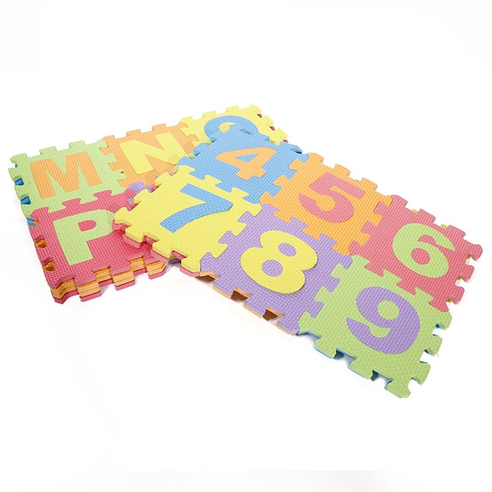 36 PCs EVA Foam Puzzle Mats Kids Floor Puzzles Play Mat For Children Baby Play Gym Crawling Mats Letters Pattern Carpet