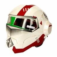 Gratis verzending 1 stks Nieuwe Ontwerp Iron Man helm motorfiets half helm open gezicht Casco Capacete Motorhelm