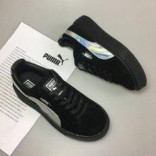 45c0290f3 Chegam novas Puma por Rihanna Trepadeiras Camurça das mulheres e dos homens  sapatos Respirável Sapatos Badminton Tênis size35.5-.