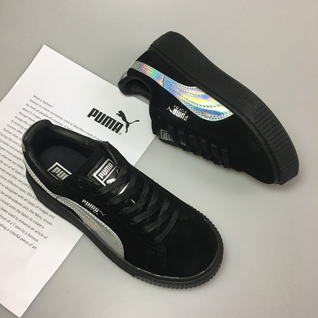 check out fdb79 4d763 US $56.93 10% OFF|New arrive Puma by Rihanna Suede Creepers women's and men  shoes Breathable Badminton Shoes Sneakers size35.5 39-in Badminton Shoes ...