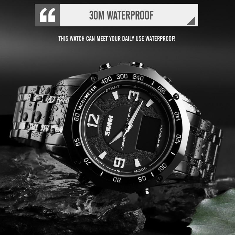 Luxury Watch Men Thermometer Compass Digital Clock Calorie Pedometer Sport Mans Wristwatch Fashion Military Men's Watches SKMEI