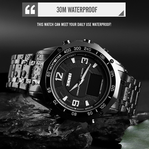 Image 4 - Luxury Watch Men Thermometer Compass Digital Clock Calorie Pedometer Sport Mans Wristwatch Fashion Military Mens Watches SKMEI