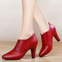 Design Hot Sale Large Size Sheepskin Leather Office Women Shoes Elegant Pumps For Ladies Thin High Heel Women Shoes YG B0345