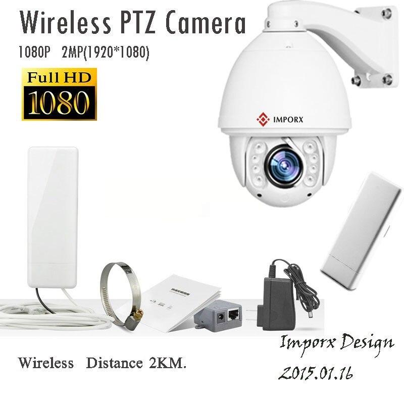 Caméra IP sans fil dôme PTZ 1080 P HD 20X Zoom caméra IP de Surveillance réseau vidéo de sécurité CCTV Wifi