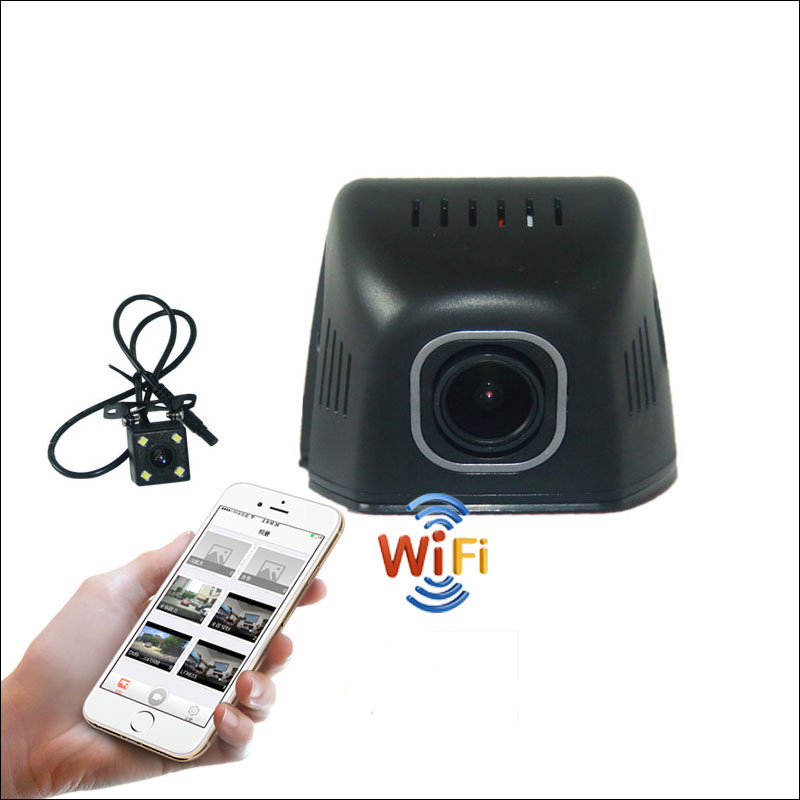 BigBigRoad For suzuki Baleno APP Control Car Wifi DVR DashCam Novatek 96655 Dual lens Car Black Box hidden installation