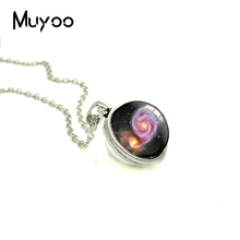 2018 New Nebula Double Sided Pendant Galaxy Necklace Handmade Photo Jewelry Glass Dome Cabochon Necklaces