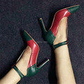 Fashion New T-strap Thin High Heels Women Shoes Sexy Pumps Wedding Dress Shoes Woman Pointed Toe Zapatos Mujer Valentine Shoes