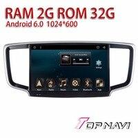 Vehicle Radio Tuner for Honda Odyssey 2015 10.1'' Topnavi Android 6.0 AV in Auto Car Multimedia support Free Map Update RAM2G