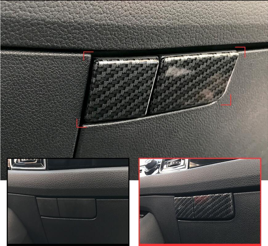 ABS Carbon Fiber Interior Storage Handle Frame Cover Trim for Volvo XC60 2018