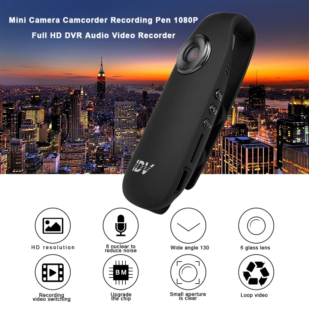 Mini Camera Camcorder Recording Pen 1080P Full HD DVR Audio Video Recorder Camera With Clip 130 Degree Wide Angle Professional mini dv md80 dvr video camera 720p hd dvr sport outdoors with an audio support and clip
