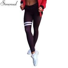 New arrival autumn leggings for women elastic slim push up fitness striped legging activewear athleisure sexy black jeggings hot