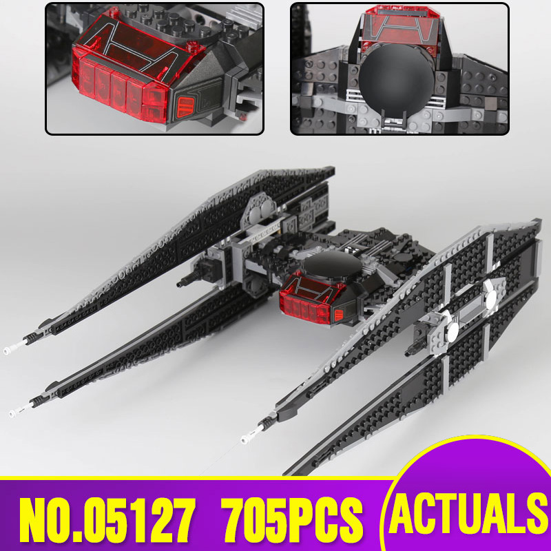 Lepin 05127 Star Plan Wars Series The Tie Model Fighter Set Legoing 75179 Building Blocks Bricks Educational Toy Christmas Gift new 1685pcs lepin 05036 1685pcs star series tie building fighter educational blocks bricks toys compatible with 75095 wars