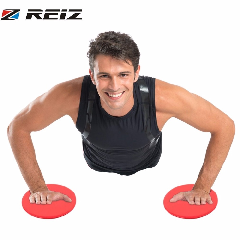 REIZ 2 Pcs/Set Sport Gliding Discs Use On Hardwood Floors Or Carpet For Core Training Home Workouts Core Sliders Dual Sided image