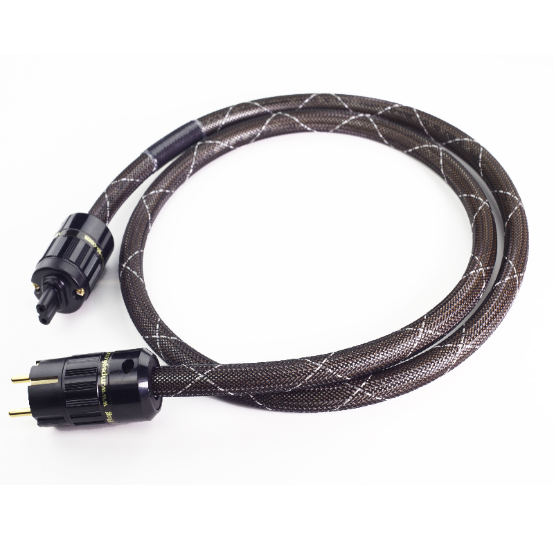 MPS M-6MK2 eu European standard HiFi 99.9997% OFC 24K Gold Plated  3Pin Power Cord Cable  DVD CD amplifier AC Power cable  mpsource tena ac hi end 99 99997% occ 24k gold plated 3pin power cord cable speaker audio dvd cd amplifier ac power cable
