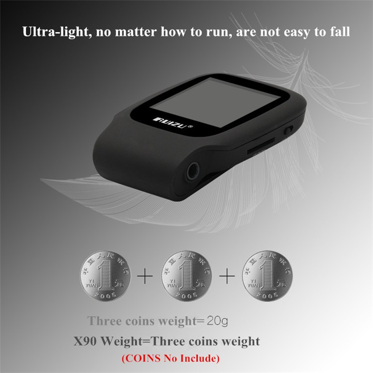 RUIZU X09 MINI MP3 Player Running Sports Clip Mp3 Walkman Support TF Card Music Player With 1.5 inch Screen E-Book Recording FM (3)