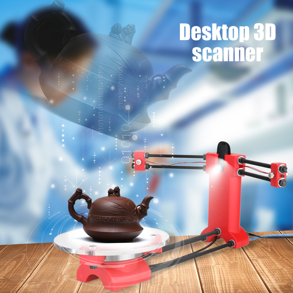 Diy 3d Open Source Scanner 3d Scanner Kit Hoge Precisie Desktop Basic Scanister Kit Met Multifunctionele Plug