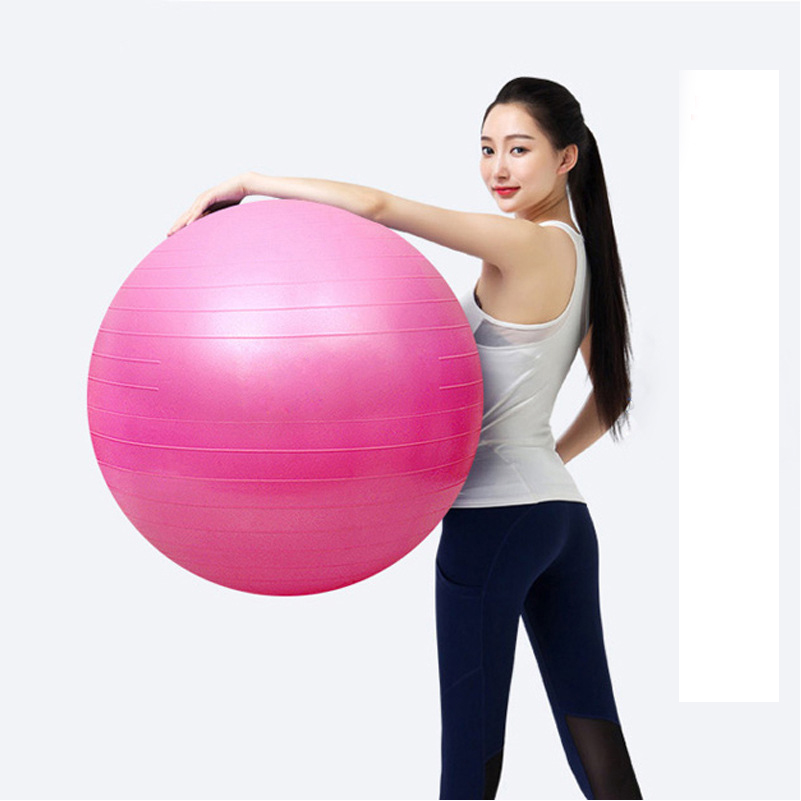 Hot Yoga Ball 45cm Yoga Fitness Ball GYM Pilates Tjocka Yoga Bollar Ingen Lukt Balans Sport Anti-slip för Fitness Training Tool