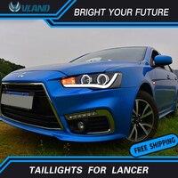Светодиодная лента Автомобильная передняя фара для Mitsubishi Lancer фары двойной Halo angel eyes Головной фонарь проектор