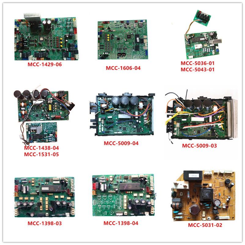 MCC-1429-06  MCC-1606-04  MCC-5036-01  MCC-5043-01 MCC-1438-04 MCC-1398-03 MCC-1398-04 MCC-5031-02
