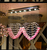 2015 LED K9 Crystal Lamp Contemporary And Contracted Type Love Pink Crystal Chandelier 30w 6 Light