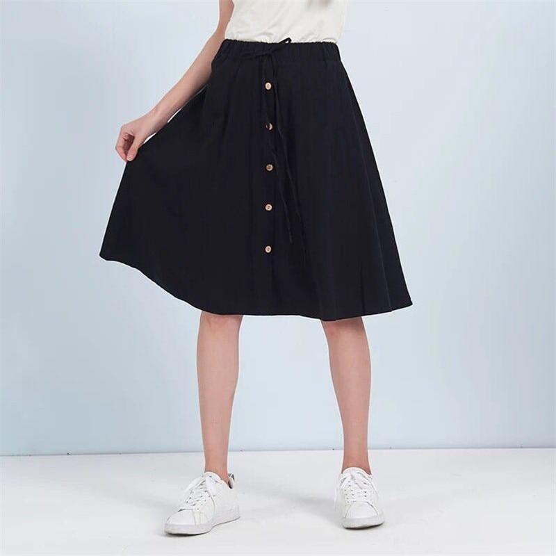 900e18bcc 9 colores negro rojo talla grande M-7XL arco falda Casual cintura elástica  faldas mujeres 2019 ...