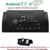 Autoradio 1 Din Android 7.1 Car Multimedia Player For BMW E39 BMW X5 E53 E38 M5 1994 2007 Audio NO DVD GPS Navigation BT Wifi 4G