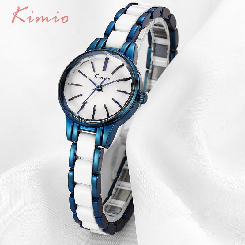 Prix pour Kimio multi cut surface bande échelle simulation en céramique bracelet femmes montres 2017 célèbre marque dames de montre femmes montres