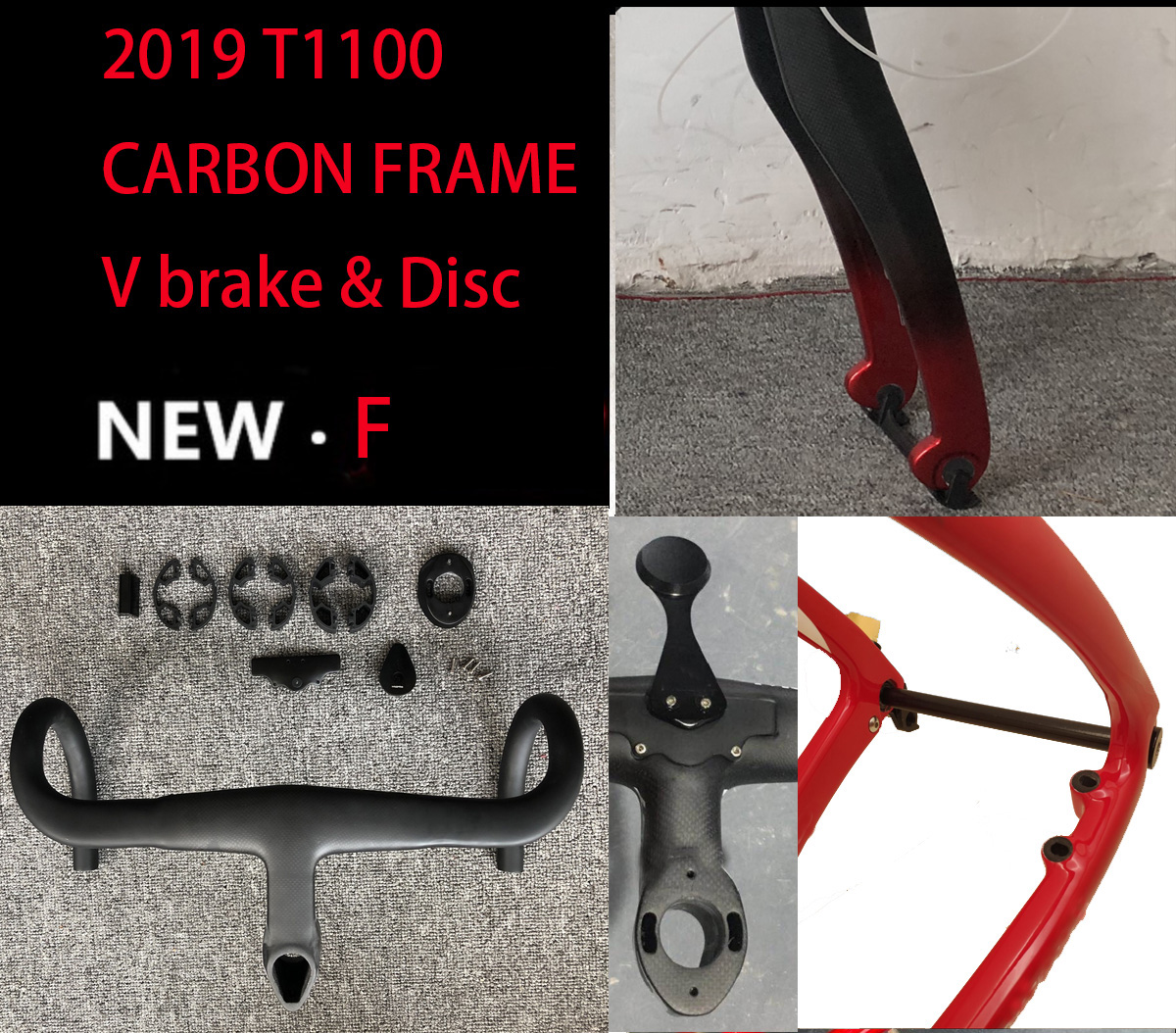 Carbon-Road-Frame T1100 Bicicleta Thru-Axle 1K 3k