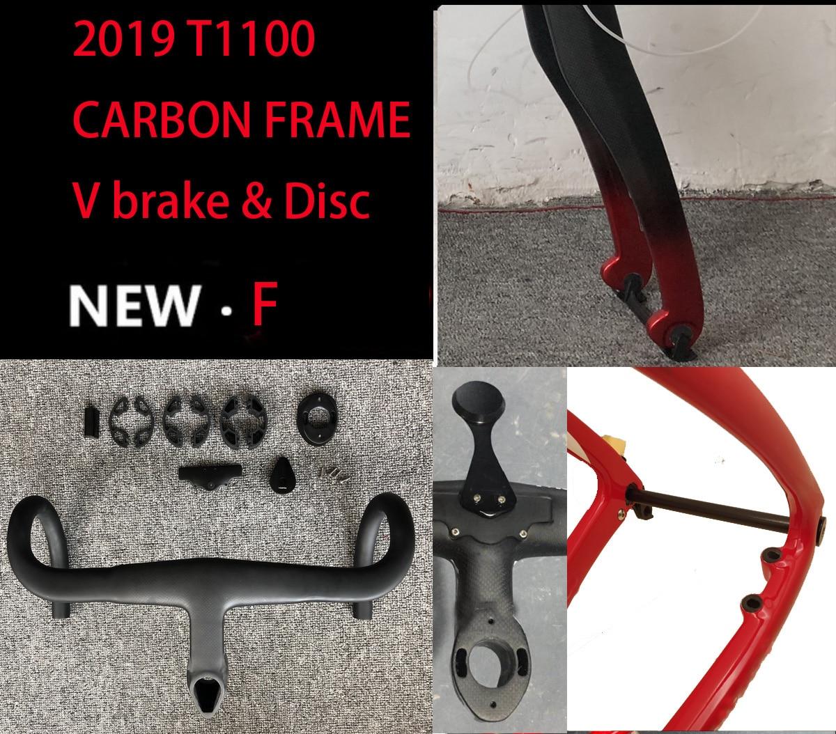 2019 T1100 cadre de route en carbone 3k 1K cadre de bicyclette disque en carbone à travers l'essieu cadre de route bicicleta cadre de vélo en carbone bici velo
