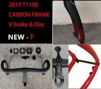2019 T1100 carbon road frame 3k 1K cadre de bicyclette carbon Disc Thru axle Road frame bicicleta carbon bicycle frame bici velo