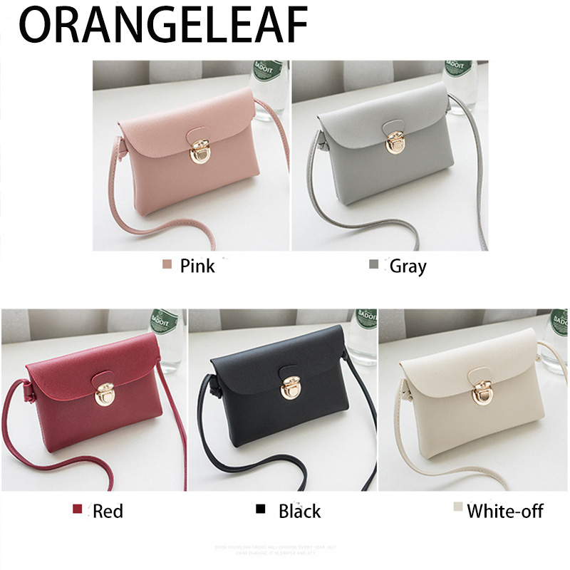 Concise Style PU Leather Flap Small Side Of Mini Mobile Phone Messenger Bag Nice Women Bags Shoulder Bags Handbag