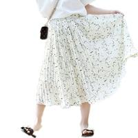 2017 Summer Baby Girl Clothes Children Girl Skirt Chiffon Pleated Flowers Printed Girls Tutu Skirts Teenager