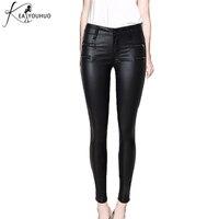 Ladies Pants Leather Women Pants Leggings Sexy High Waist Zipper Woman Pants Trousers Black Pencil Pants Pantalon Female Bottom
