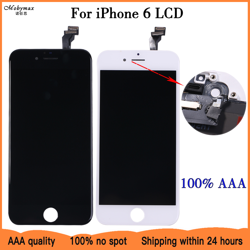 Lcd-Screen-Display-Assembly iPhone 6 Pixel Black for White No-Dead No-Dead