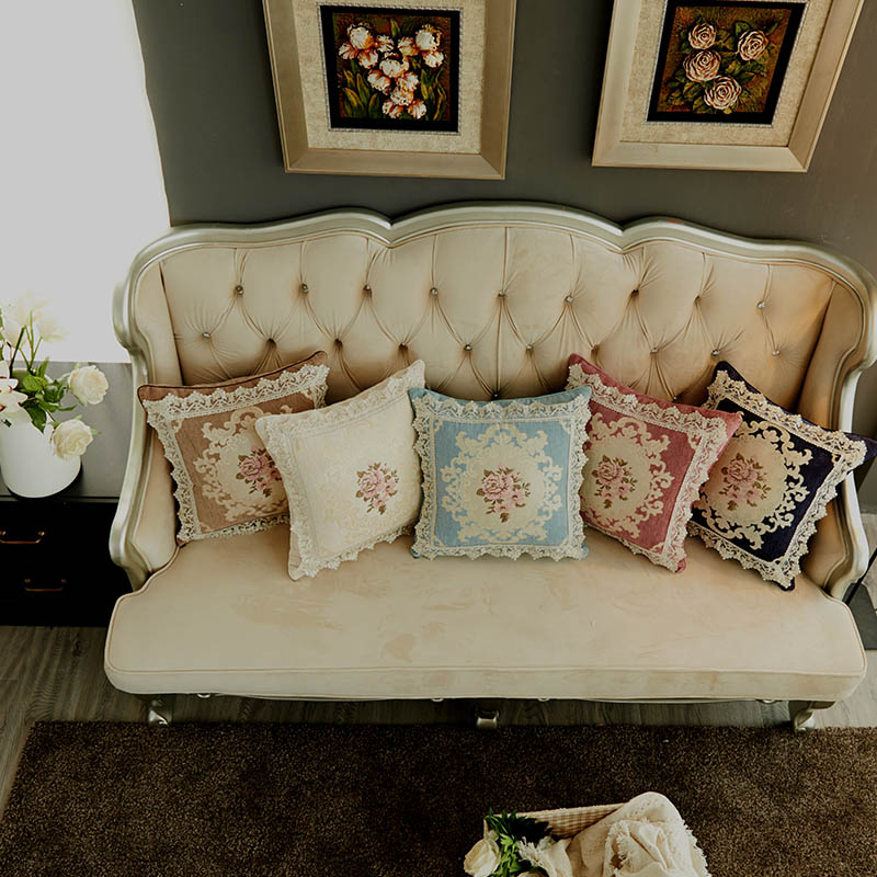 Chenille Fabric Luxury Cushion Covers 45x45cm Living Room Chair Sofa  Decoration Gifts / Jacquard Floral Cushion Pillow Covers In Cushion Cover  From Home ...