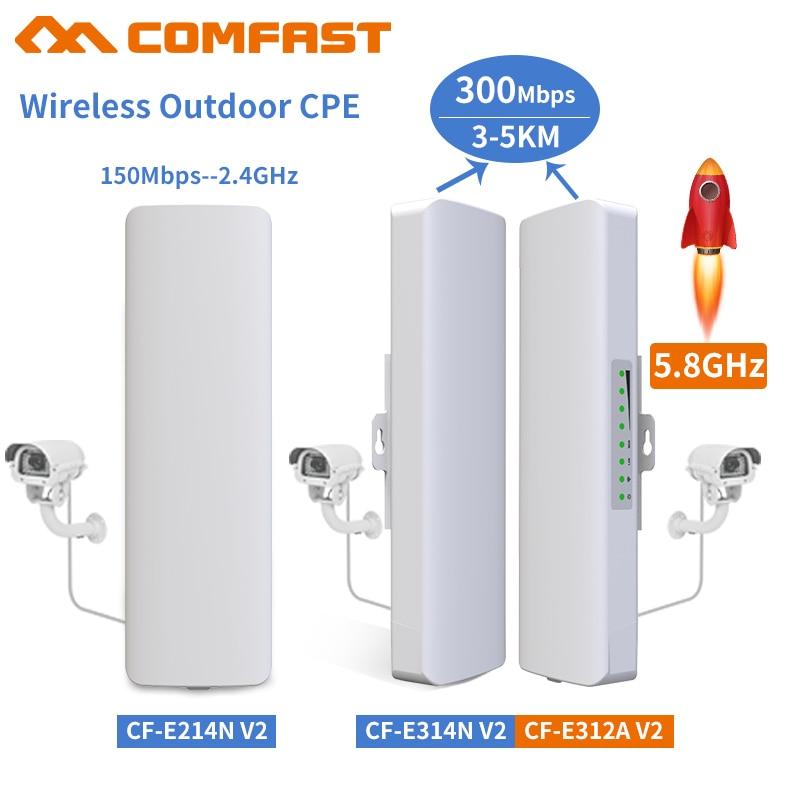 Comfast 2 5 км 2,4 ГГц и 5,8 ГГц 150 ~ 300 Мбит/с открытый беспроводной мост CPE маршрутизатор Wi fi Усилитель сигнала Усилитель расширитель повторитель CPE Беспроводные роутеры      АлиЭкспресс