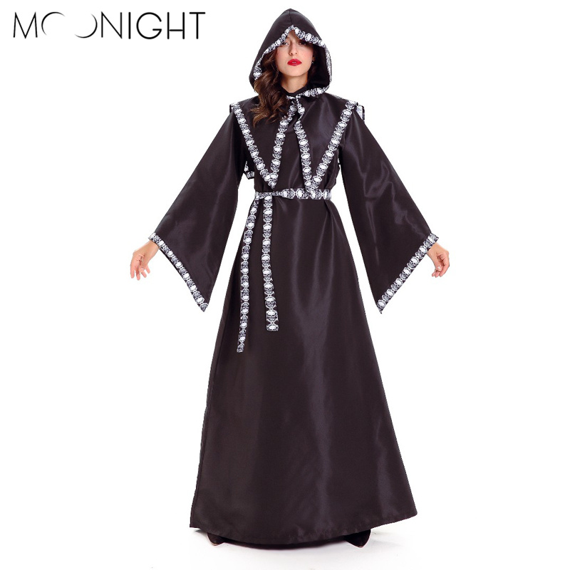MOONIGHT Gothic Witch Costume Women Party Halloween Costume Sexy Witch Costume