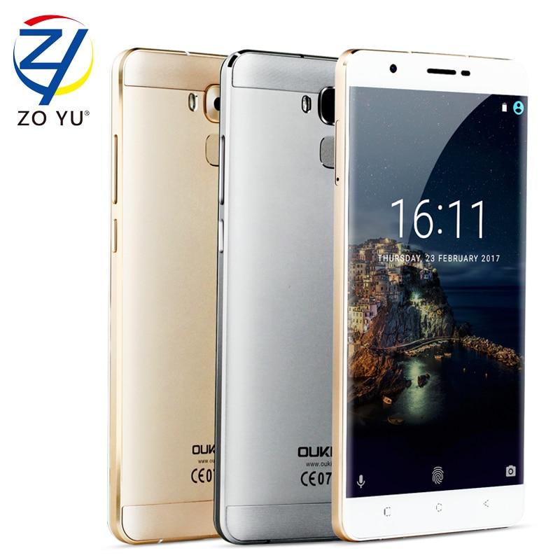 "bilder für Oukitel u16 max 4000 mah pandroid 7,0 smartphone 6,0 ""hd 1280x720 3g + 32g mtk6753 octa core fingerabdruck touch id handy"