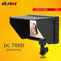 Viltrox DC 70HD Clip on 7 ''1920 x IPS монитор для камер высокого разрешения с разъемами HDMI и AV 1200 для Canon Nikon DSLR BMPCC 5DIV