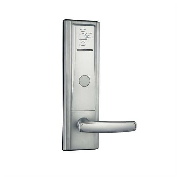 hotel lock system, RFID T57 hotel lock, sample comes with a test T57 card ,Zinc alloy forging,sn:CA-8020_T57 hotel lock system rfid hotel lock zinc alloy forging meterial gold silver ic card sn ca 8025