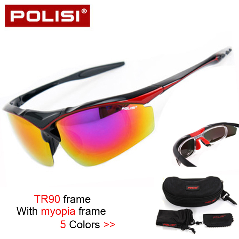 2017 New Brand TR90 Polarized Cycling Glasses Bike Goggles Outdoor Sports Bicycle Sunglasses UV 400  With Myopia Frame 5 colors 4 lens brand new jaw outdoor sports cycling sunglasses eyewear tr90 men women bike bicycle breaker cycling glasses goggles