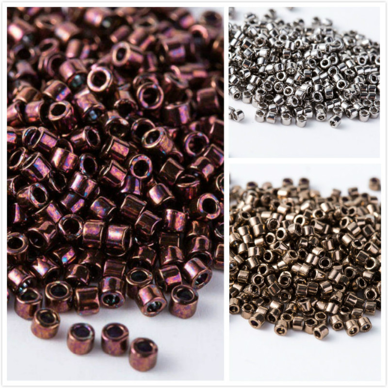Taidian 3grams Metallic Dark Raspberry DB12 Miyuki 1.6x1.3mm Delica Beads  11 0 e0415228ed1e