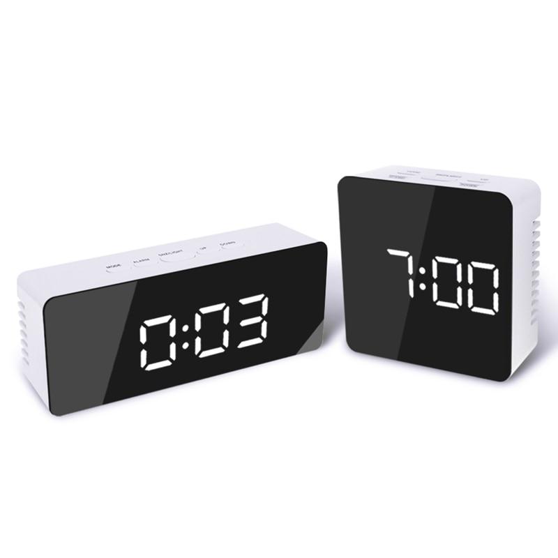 Digoo DG-DM1  Smart Home Automation Kits Wireless USB Mirror LED Digital Therometer Temperature Night Mode for Black Alarm Clock