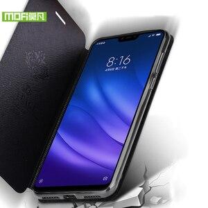 Image 5 - For Xiaomi Mi8 Lite case for Xiaomi Mi 8 Lite case cover silicone 360 luxury flip leather original Mofi for Xiaomi Mi8 Lite case