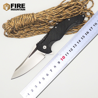 BMT Ball Bearings MDF 1 Flipper Tactical Folding Knife With D2 Blade White Blade Camping G10